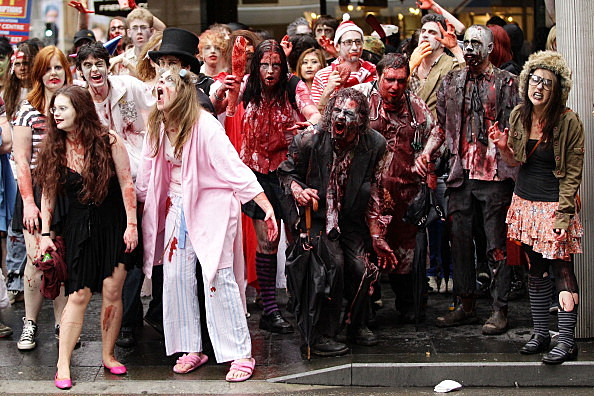 Zombies Walk The Streets Of Sydney