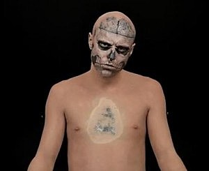 Zombie Boy Hides Skeleton Tattoo With Flesh Colored Make Up