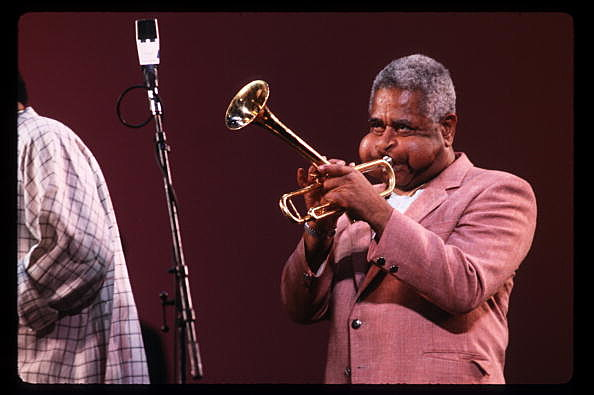 Dizzy Gillespie Plays The Trumpet In New York City Gillespie A Legendary Trumpeter And