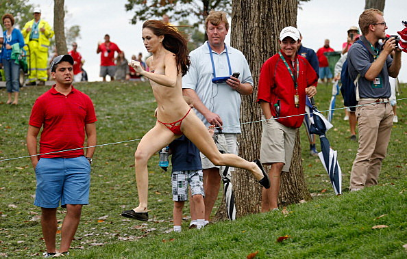 The Presidents Cup Streaker